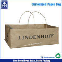 17062809 Custom printed Offer flower packing kraft Paper Bags at lower price
