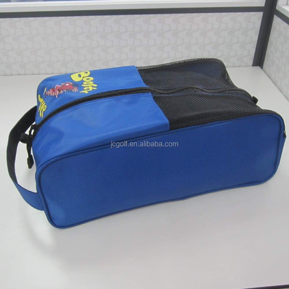 Custom make nylon golf shoe bags