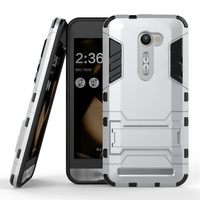 Hybrid Armor Case with Stand Tough Mobile Phone cases Cover Dual Layer TPU Shockproof case For ASUS ZEnfone 2E Fundas Coque