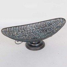 elegant dry tray comport metal fruit <strong>plate</strong> with tall foot