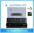 Air Digital Technology ZGEMMA H5 FTA Satellite Receiver Dual Core Linux OS Enigma2 H.265 DVB-S2+T2/C Twin Tuners
