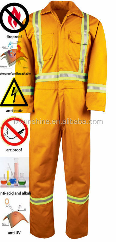2016 Fireproof Workwear Orange Coveralls with reflector