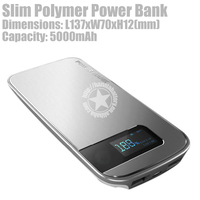 5000mAh Polymer External Battery Portable 2 Port Charger for iPhone (Silver) larger image - Silver