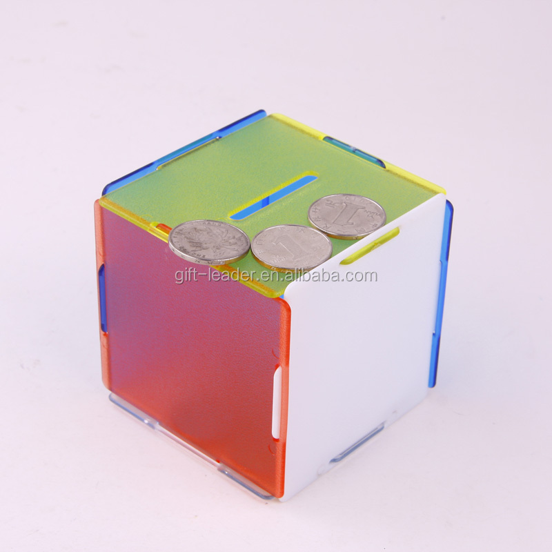 new style cute transparent piggy bank
