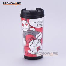 Insulated Customize Plastic Mug with Paper Insert TMPP0167