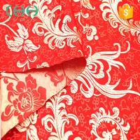 Red cheongsam embroidery silk jacquard brocade fabric for garment