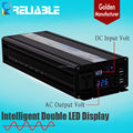 factory supply Hot Sales Double LED Display high quality Pure Sine Wave 2500W dc ac inverter
