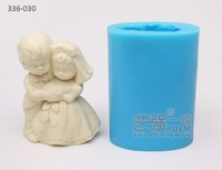 wedding decorating topper,silicone cake mould couple, food grade silicone mold making