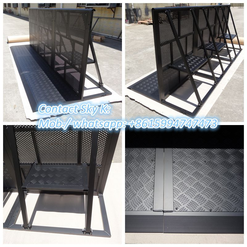 temporary cheap used safety concert metalaluminum plastic crowd control barriers for sale