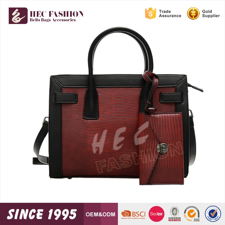 HEC CE Certificated PU Leather Material Women Lady Hand Bag Wholesale Price