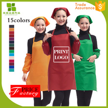 factory hot sales spun polyester bistro waist aprons with pockets good quality