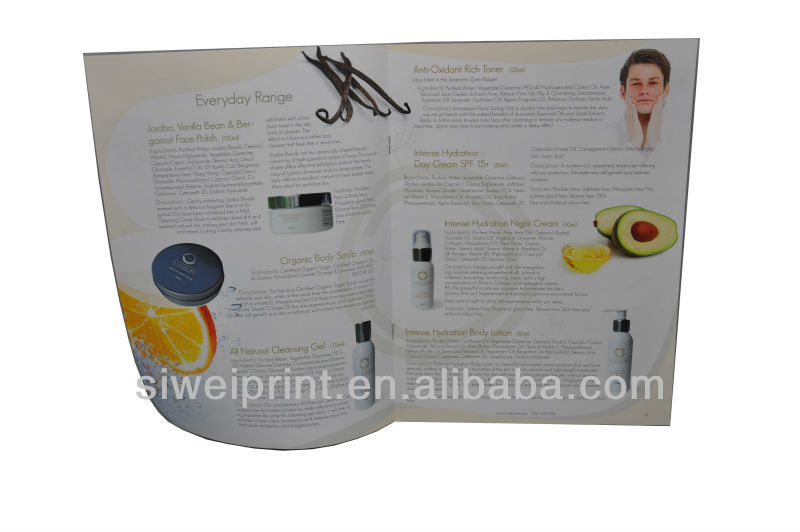 2013 brochure for skin care/brochure printing in high quality