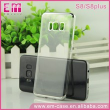 Newest Transparent TPU Back Cover Soft Electroplate Phone Case for samsung s8,mobile phone shell