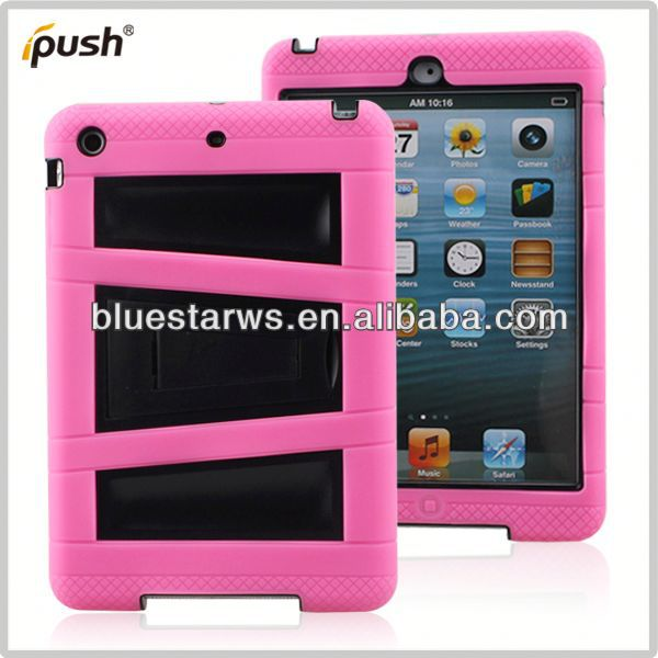 Silicone case and cover for tablet pc New Design Combo Case Soft Silicone PC Case Cover for Apple iPad Air