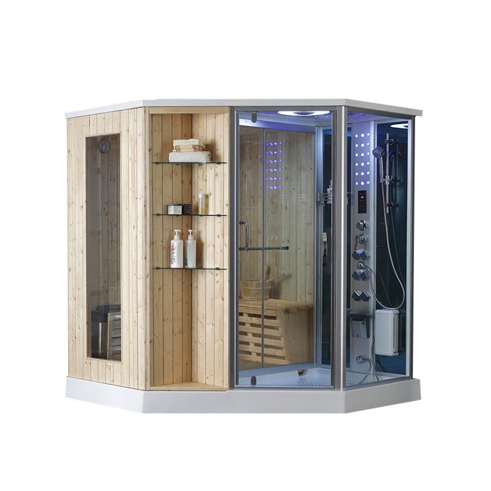Holz Sauna Bad Duschkabine Kombination Trockenen Und Nassen Dampfbad - Buy  Holz Dampfsaunaraum,Sauna Dusche Kombination,Trockenen Und Nassen Dampfbad  ...
