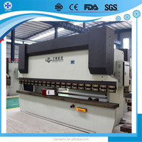 WC67Y 300t/ 4000 Electrical Control Back Gauge Metal Sheet electric sheet bending machine