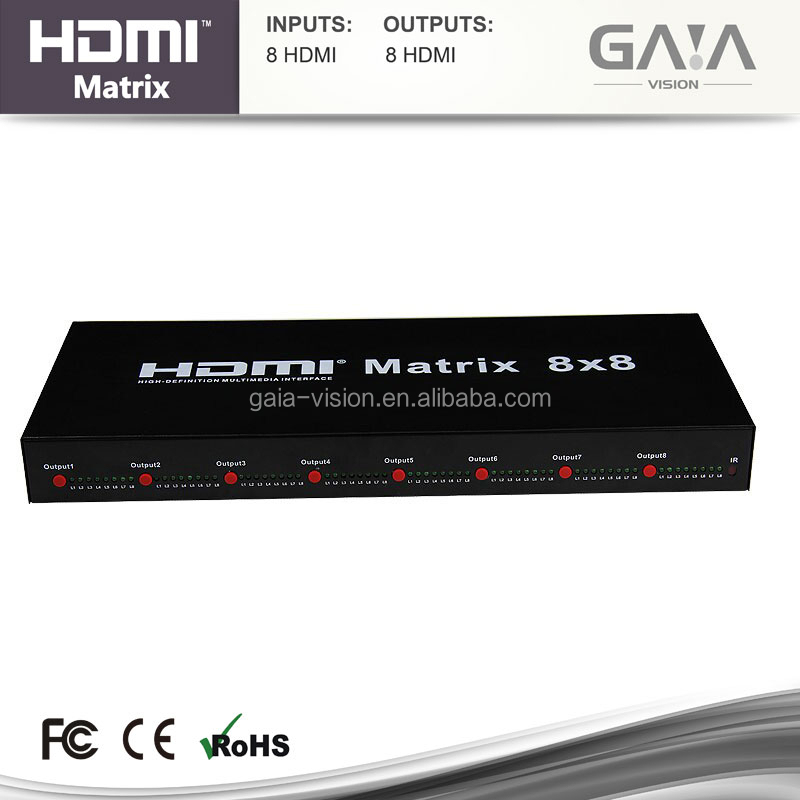 HDMI Switcher Splitter Matrix 8x8 v1.4 4K*2K Support IR Control TCP/IP