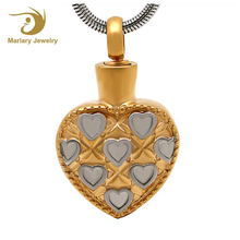 Shenzhen Favorite Jewelry Heart Memorial Pendant 18K Gold Plated Ashes Urns Cremation Necklace Design for Love