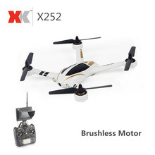 New XK X252 5.8G FPV With 720P 140 Degree Wide-Angle HD Camera Brushless Motor Highlight LED Lights 7CH 3D 6G RC Quadcopter RTF