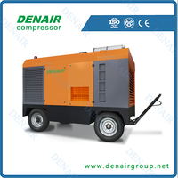high quality portable 750cfm diesel air compressor