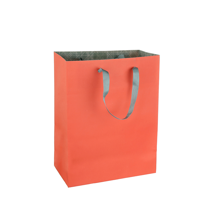 High quality custom logo cheap solid color large paper gift bags