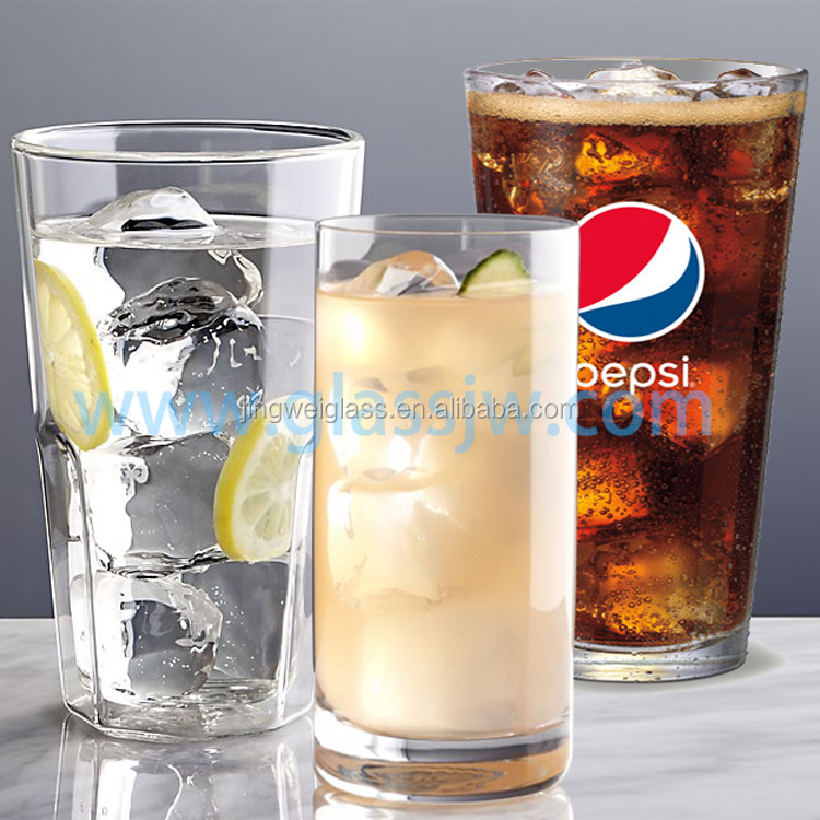 Hot selling 16oz wholesale drinking glass