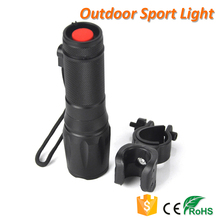 CREE XM-L T6 1000 Lumen Brightest Waterproof Tactical LED Flashlight with Bicycle Clip Bike Holder