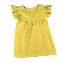 2018 Summer baby girls pearl dress boutique flutter sleeve baby girls dress