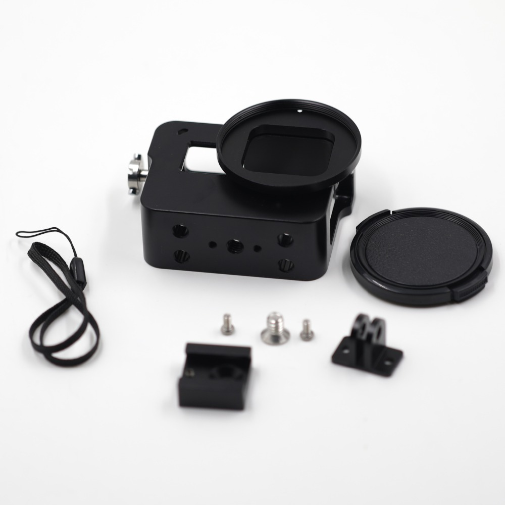CNC aluminum alloy GoPros 5 case within lens cap suits