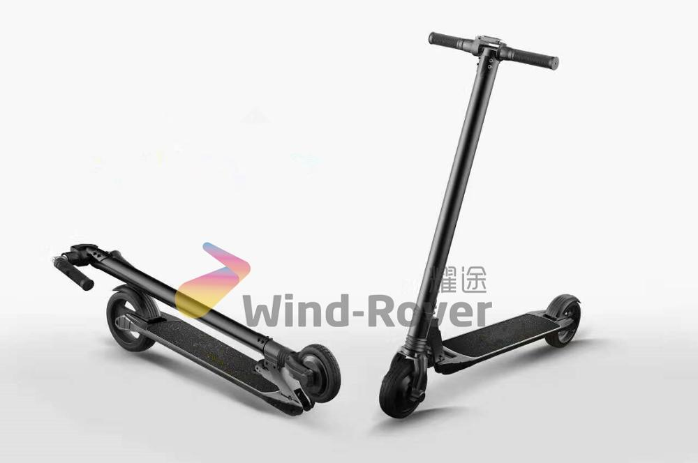 Wind Rover 2017 carbon fiber gas folding electric kick scooter for adult