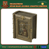 Wholesale competitive price devout home decoration polyresin Bible religion figurine