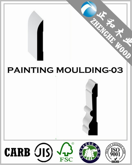 Surface White Skirting Moulding