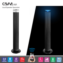Factory new wireless Blue tooth Tower Speaker Floor Sound bar With Fm Radio and LED light
