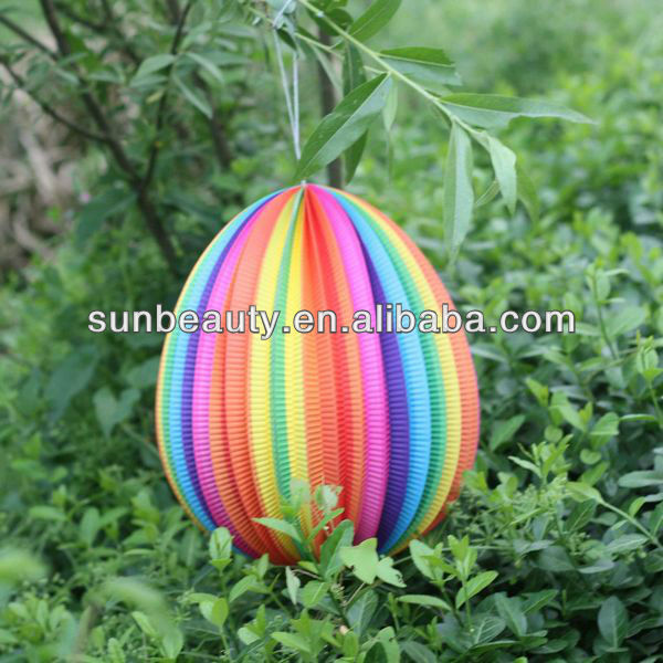 Colorful hanging paper lanterns/Egg shape paper lanterns/easter egg paper lantern
