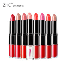 CC36078 Duo lips stain with shiny color lipstick and lip gloss