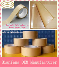 Self adhesive Kraft paper fiber reinforced tape