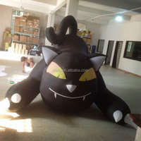 large inflatable black cat for Halloween decoration halloween inflatable model