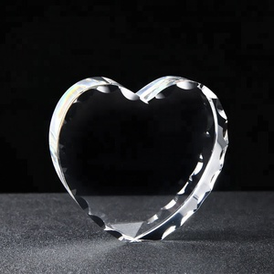Factory direct sell crystal heart for 3d laser engraving as gift