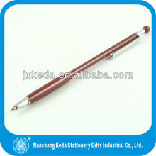 2014 dark red thin new design lady ball pen