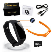 HD 1080P Wristband Hidden Camera,Built-in 16GB SD Card,Executive Multifunction DVR Sports Wearable Bracelet Portable Spy Camera
