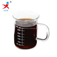 glass measuring cup /drinking glass cup with handle