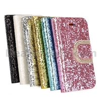 Luxury Bling Wallet Style Stand Flip Diamond+Leather Case For iPhone 4 4S Case With Card Slot