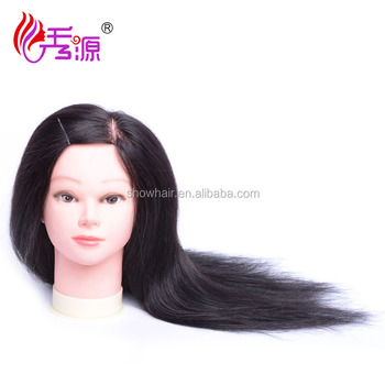 2017 hot sale Top Quality 100% human hair natural products for curling hair mannequin head Barber training head