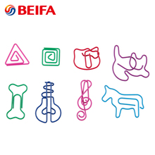 Beifa Brand HC0009 Promotional Colored Unique Shaped Flat Metal Paper Clip