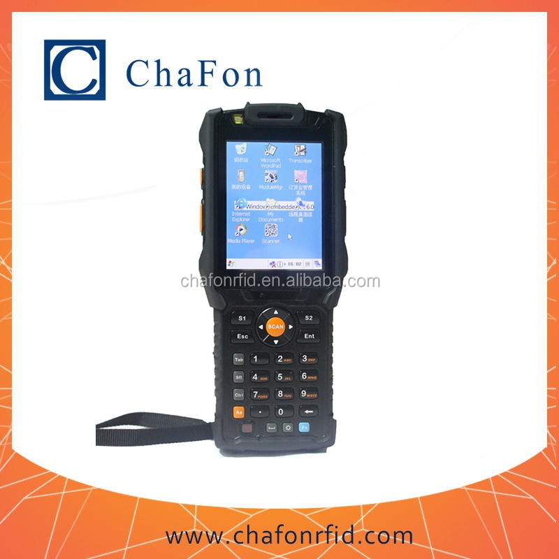 uhf rfid portable reader with bluetooth/wifi/GPRS/barcode function with windows CE 6.0 OS integrated IP65 industrial-grade