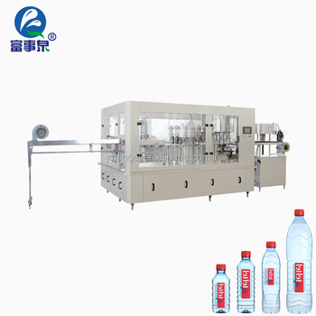 Professional 5000bph automatic 3 in1 mineral water rinsing sealing machine