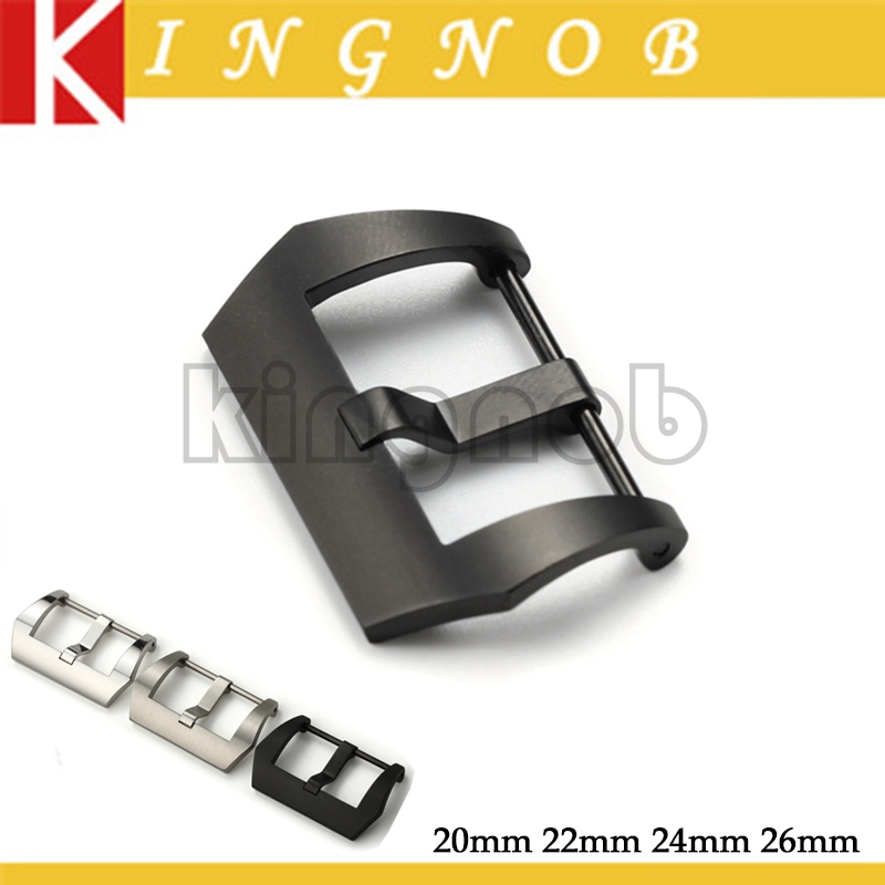 20mm 22mm 24mm 26mm Polished Brushed PVD Leather Watch Band Strap Clasp 316L Stainless Steel Pin Watch Buckle