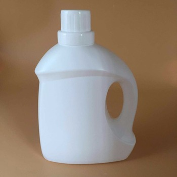OEM design white 3L wholesale plastic fabric softener liquid laundry detergent bottle