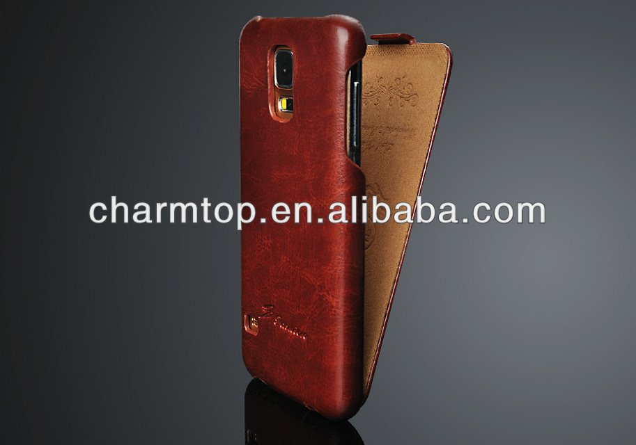 Luxury Leather Flip Case For Samsung Galaxy S5 i9600