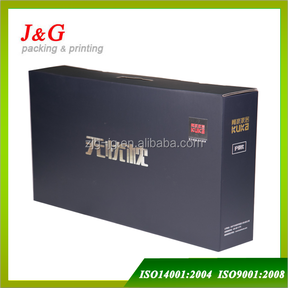 silver hot stamping matt laminated corrugated carton box for packing pillows